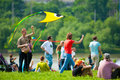 Kite festival moscow may unidentified people fly kites at the in the park tsaritsyno on may in moscow Stock Image