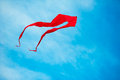 Kite flying in the blue sky red Royalty Free Stock Photos