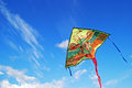 Kite flying in the sky background Royalty Free Stock Photo