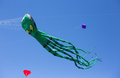 A kite in the form of an octopus.