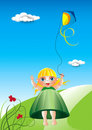 Kite girl Royalty Free Stock Photography