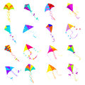 Kite icons set Royalty Free Stock Photo