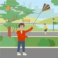 Kite in park.