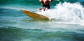Kite surf: detail on the surf. Royalty Free Stock Photo