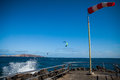 Kite surf wind directional indicator and in gran canaria Stock Image