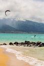 Kite Surfer on Beach Royalty Free Stock Photo