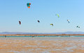 Kite surfers Royalty Free Stock Photo