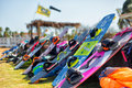 Kite surfing boards Royalty Free Stock Photo