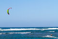 Kite Surfing in Hawaii Royalty Free Stock Photo