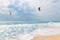 Kite Surfing In Waves