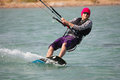 Kiteboarder enjoy surfing Royalty Free Stock Photography