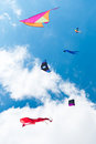 Kites Flying Royalty Free Stock Photography