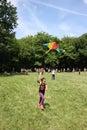 Kites flying day belgrade serbia jun kids enjoy in competition of Royalty Free Stock Photos