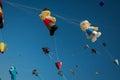Kites in the sky during kite festival in dubai Royalty Free Stock Image