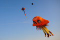 Kites in the sky sanamluang bangkok thailand Stock Image