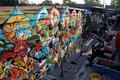 Kites vendors sell handicrafts in a field in the city of solo central java indonesia Royalty Free Stock Photo