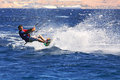 Kitesurfer on the Red Sea. Stock Photography