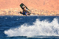 Kitesurfer on the Red Sea. Stock Photos