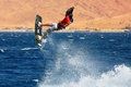 Kitesurfer on the Red Sea. Royalty Free Stock Photos