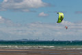 Kitesurfers in Hauraki Gulf Royalty Free Stock Photo