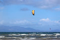 Kitesurfers at Troon Royalty Free Stock Photo
