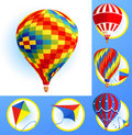 Kits and balloons Royalty Free Stock Images