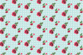 Kitsch floral pattern wallpaper with roses digitally generated Royalty Free Stock Photo