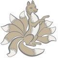 Kitsune nine tailed fox