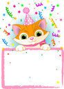 Kitten Birthday Royalty Free Stock Photos