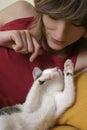 Gatito en jugar