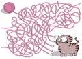 Kitten And Wool Ball Maze Game