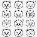 Kittens emotions illustration of funny emoticons Royalty Free Stock Photos