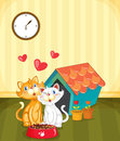 Kittens in love Royalty Free Stock Photo