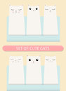 Kittens pocket greeting birthday or shower card poster concept. Cat set. Royalty Free Stock Photo