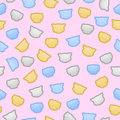 Kittens and puppies flat color pastel seamless vector