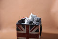 Kittens in Union Jack box Royalty Free Stock Photo