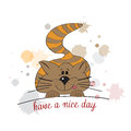 Kitty wishes you a nice day Royalty Free Stock Photo
