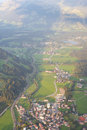 Kitzbuhel ski resort aerial view of town and during summer tirol austria Stock Image