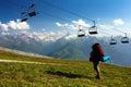 Kitzbuheler Alpen to Hohe Tauern with chairlift