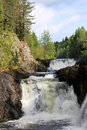 Kivach waterfall in the republic of karelia russia Royalty Free Stock Photo