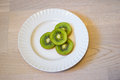 Kiwi eating diets curve drink energy exoticism Royalty Free Stock Photography