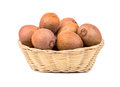 Kiwi fruit in basket Royalty Free Stock Photo
