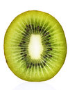 Kiwi Fruit Cross Section Stock Photography