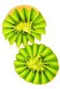 Kiwi fruit crown Stock Photos