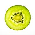 Kiwi fruit half cut photo on light box Royalty Free Stock Photography