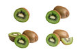 Kiwi fruit isolated on white background Royalty Free Stock Photo