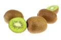The kiwi fruit is native to china Royalty Free Stock Photo