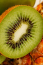Kiwi fruit with seeds Stock Image
