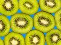 Kiwi fruit.  Slice of fresh kiwi fruit isolated Royalty Free Stock Photo
