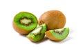 Kiwi fruit sliced and Royalty Free Stock Photo